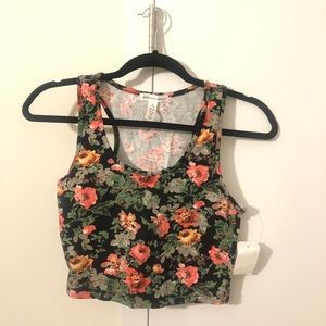Floral Print Crop Top! New With Tag